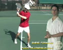 Step 4 Tennis Slice Backhand Swing to Contact