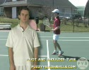 Step 1 Tennis Forehand Volley Prepare to Hit
